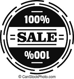 Sale logo, simple style.
