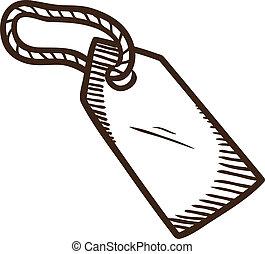 Sale luggage tag symbol.