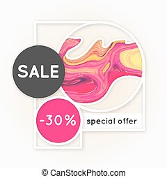 Sale. Marbling. Marble texture. Discount. Vector abstract...