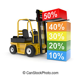 Sale metaphor - Business concept. Isolated on white