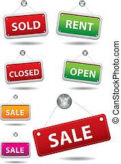 Sale notice board