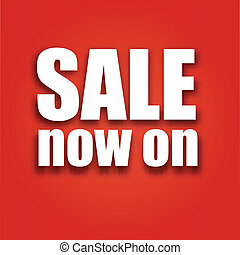 Sale now on poster with bag, vector illustration for your...