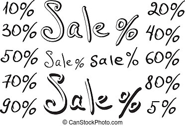 Sale, numbers and percentages