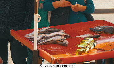 Sale of Fish in the Spontaneous Market - Sale of fish in the...