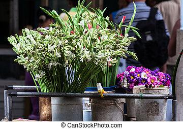 sale of fresh flowers
