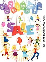 Sale of goods for children
