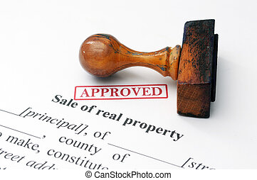 Sale of real property concept