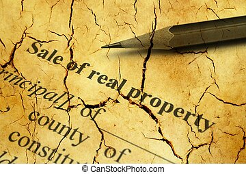 Sale of real property cracked form