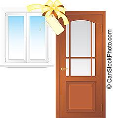 Sale of window and wooden door