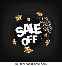 Sale off card with calligraphic inscription