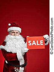 Sale on Christmas holidays