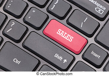 """Sale"" on computer keyboard"