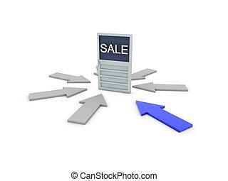sale on door