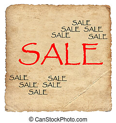 Sale on old paper background