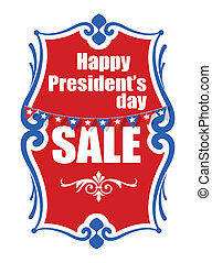 Sale on Presidents Day Vector Banner Illustration