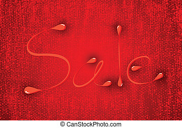 Sale on red background texture