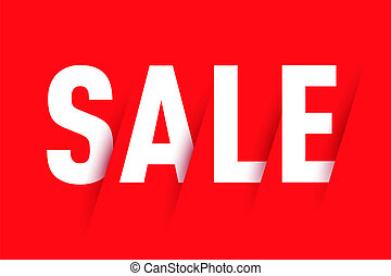 Sale on red background.