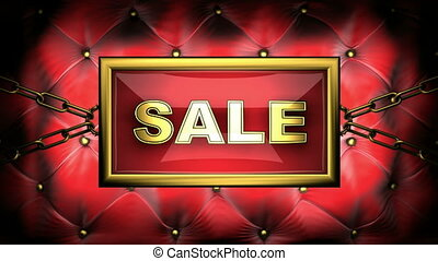 sale  on velvet background