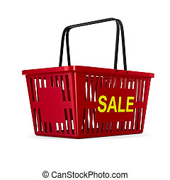 sale on white background. isolated 3d illustration