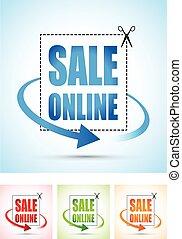 sale online arrow sign set