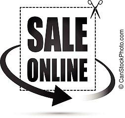 sale online arrow sign