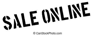 Sale Online black rubber stamp on white