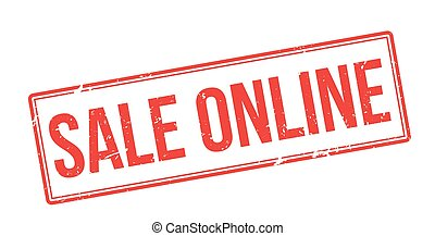 Sale online red rubber stamp on white