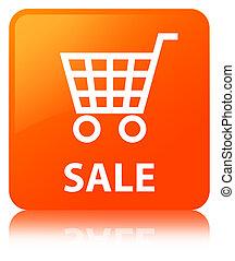 Sale orange square button