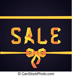 Sale origami poster