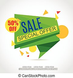 Sale Paper Banner Design.Sale background.Big Sale tag.Sale poster.50% off. Special Offer Tag.Sale Vector Illustration for Promotional brochure,poster,advertising shopping flyer, discount,banner.
