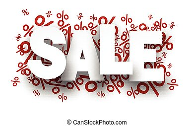 Sale paper note over percent signs. - Sale paper note ...