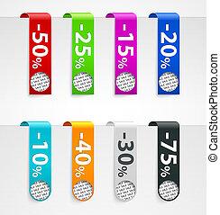 Sale paper tags. Vector announcements