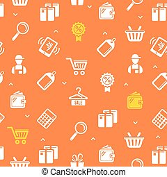 Sale Pattern Background. Vector