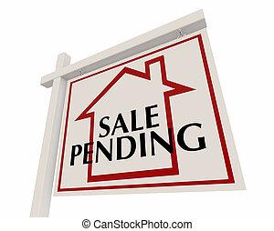 Sale Pending Home for Sale Real Estate Sign Words 3d Render Illustration