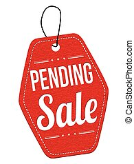 Sale pending label or price tag - Sale pending red leather...