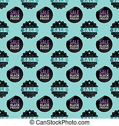 Sale percent discount black friday seamless pattern vector illustration.