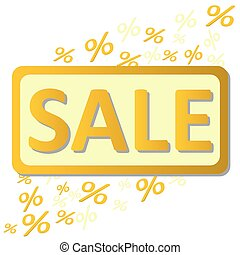 Sale percents - Sale signboard with flying percent symbols ...