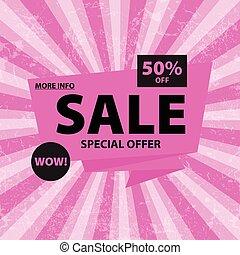 Sale pink banner