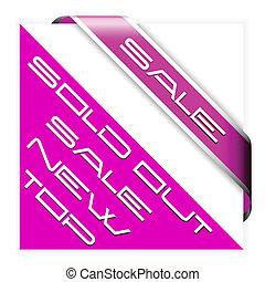 Sale pink corner ribbon