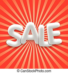 Sale poster background vector