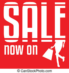 Sale poster. Vector illustration