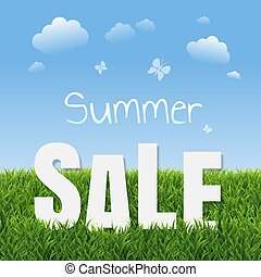 Sale Poster With Grass