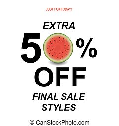 Sale Poster With Watermelon