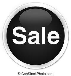 Sale premium black round button