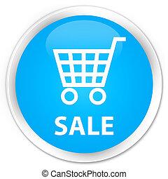 Sale premium cyan blue round button