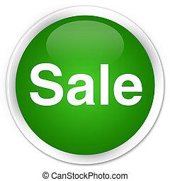Sale premium green round button