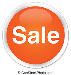 Sale premium orange round button
