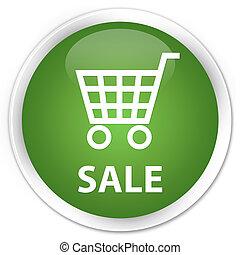 Sale premium soft green round button