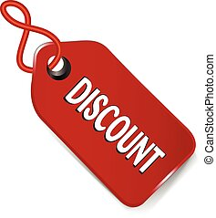 Sale price tag discount