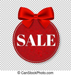 Sale Price Tag With Bow Isolated Transparent Background